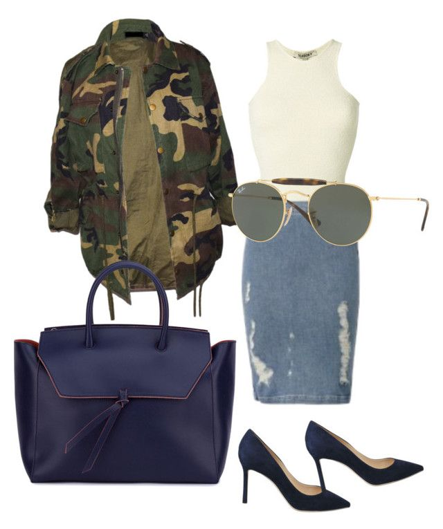 """""""Sans titre #109"""" by miachic on Polyvore featuring mode, Yeezy by Kanye West, Frame, Jimmy Choo, Alexandra de Curtis et Ray-Ban"""