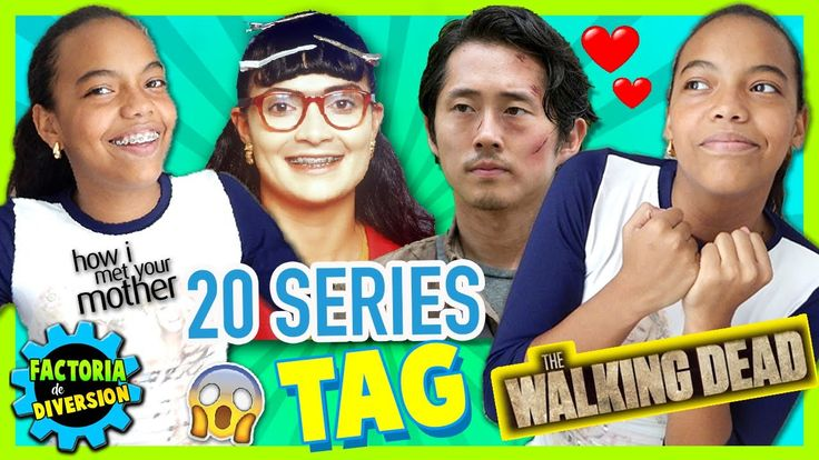 ¡El TAG de las SERIES! 🎬  20 SERIES TAG 😜 The walking Dead, CAZADORES DE...