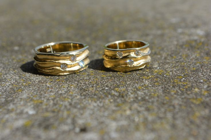 rings 'Sea' gold and diamonds