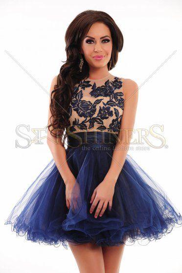 Sherri Hill 21219 DarkBlue Dress
