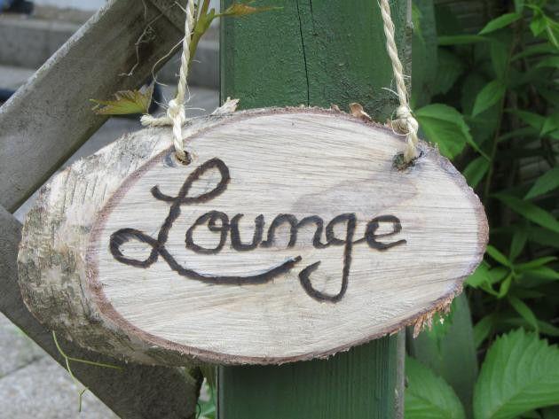 Gartendekoration - Garten Schild Lounge - ein Designerstück von mARgriTs-Atelier bei DaWanda