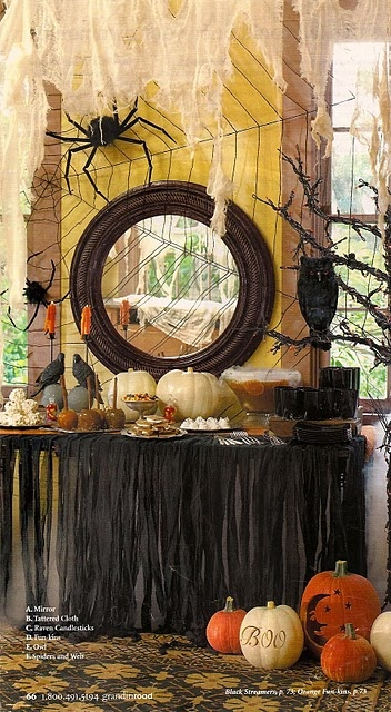 Lots of halloween decorating ideas here nice buffet for How to have a great halloween party