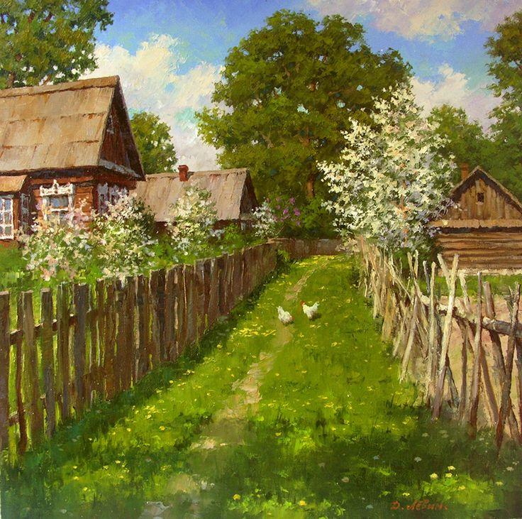 Вдали от суеты: деревенская живопись Дмитрия Лёвина 14