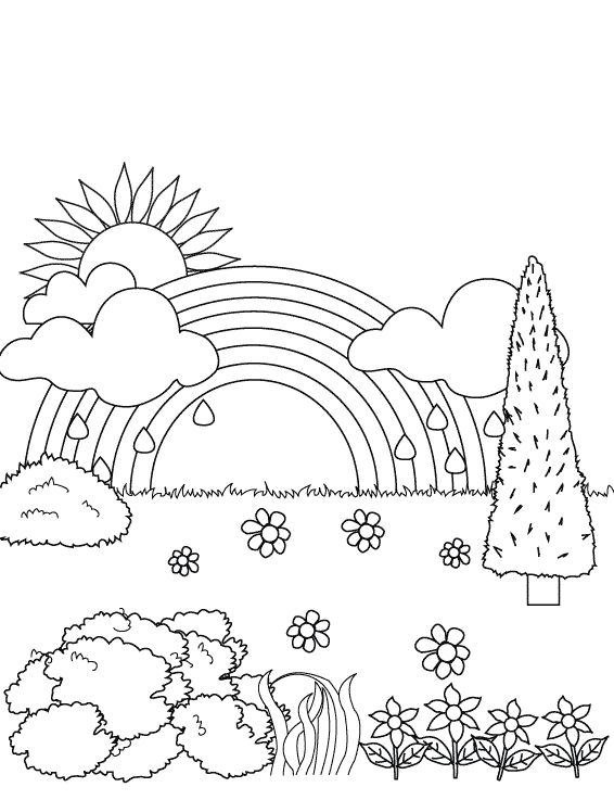 draw pictures online free free printable rainbow coloring pages for kids - Rainbow Coloring Pages Free Printable