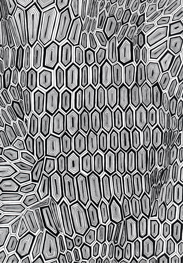 'organic geometry' nr.1 pattern by Kriszti Balla  #pattern #patterndesign #krisztiballa #bw #geometric