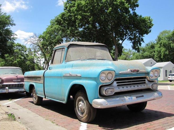 This 1958 Chevrolet pick-up truck shows exactly one mile on its odometer.