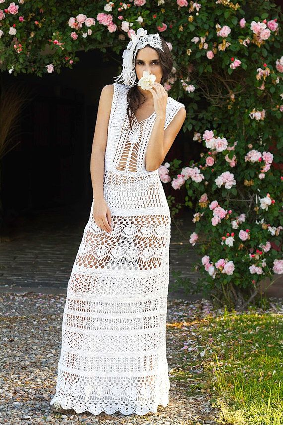 Crochet Dress   custom made hand made crochet  100 от Irenastyle, $599.00