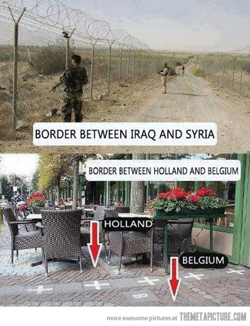 How borders work in the Netherlands...