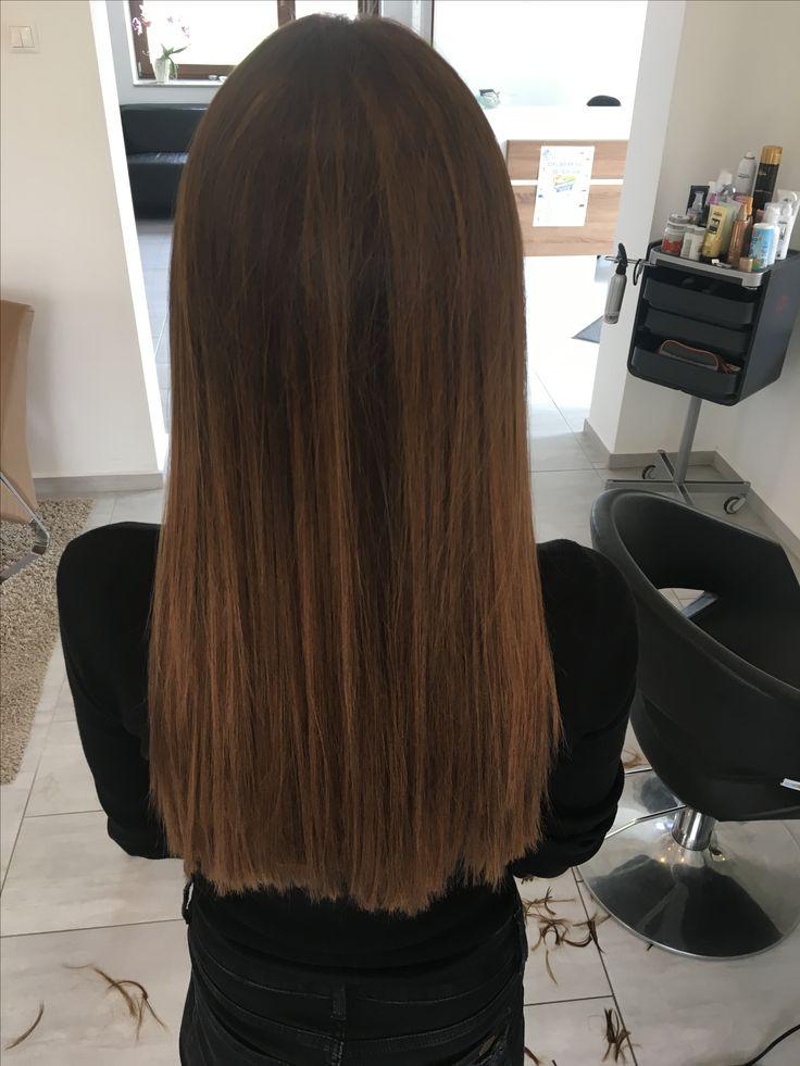 #Brunette #balayage #straight #hair