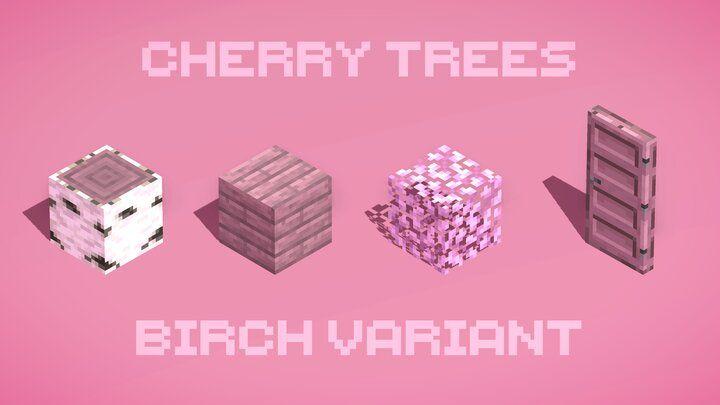 Cherry Trees Birch Minecraft Texture Pack In 2021 Texture Packs Minecraft Designs Minecraft