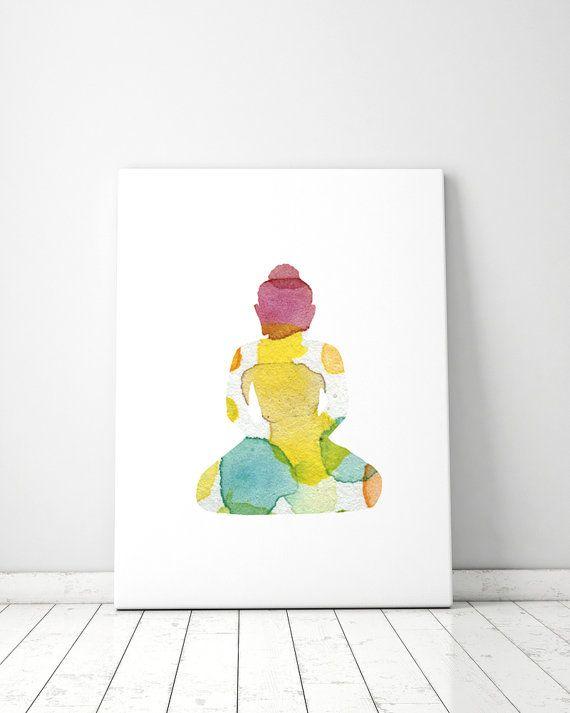 Gestipte Boeddha illustratie  kunst print  door Lemonillustrations