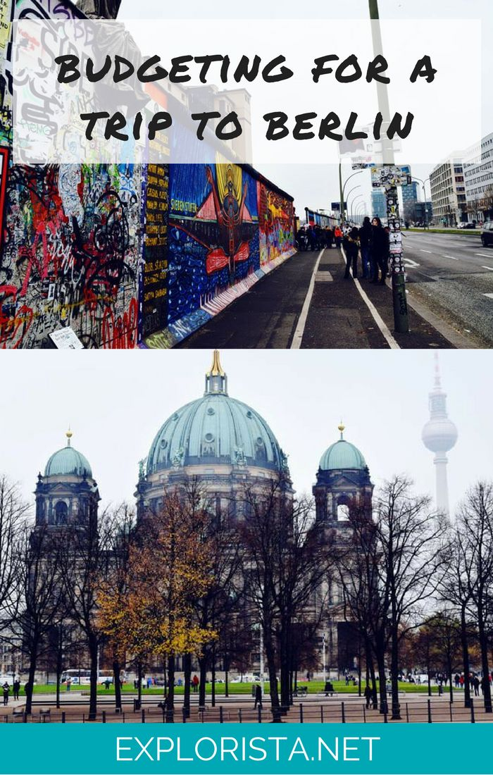 How to budget for your trip to Berlin! How much can you expect to spend on food, accommodation, transport? Click through to find out! Travel tips via Explorista