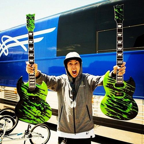 pierce the veil guitars and Tony~I'm screwed I thought the black n white triangular ones were the bomb....
