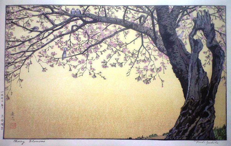 Cherry Blossoms.,,Toshi Yoshida