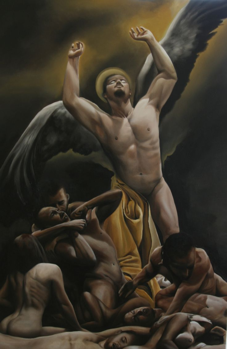 """""""Holy orgy"""" - Oil on canvas - 100 x 60cm  .All rights reserved, please do not use this images!."""