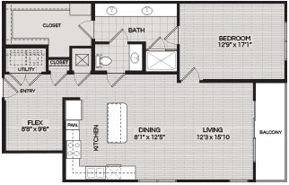 Floorplans A3 1 BEDROOM 1 BATH