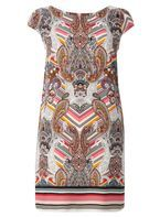 Womens **Billie & Blossom Petite Paisley Print Shift Dress- Multi Colour