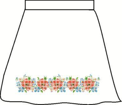 Льняная серая детская юбка СПДЛ-2