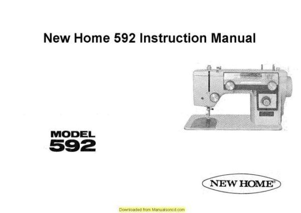 New Home Janome 592 Sewing Machine Instruction Manual ... Janome Mini Sew Motor Wiring Diagram on