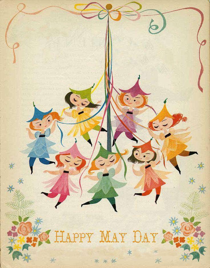 Happy May Day - Mary Blair