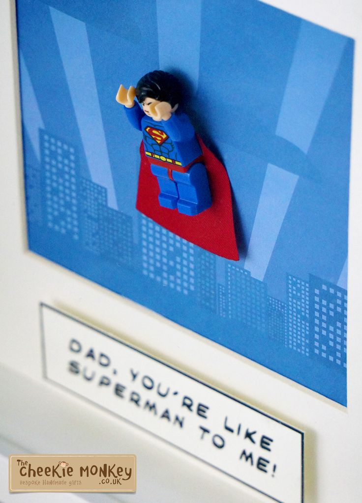 Our personalised superhero frame is a wonderful gift for any age featuring a lego mini figure mounted on a unique background image within a deep box frame.