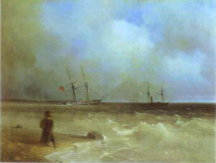 Seashore. 1840. Oil on canvas. The Tretyakov Gallery, Moscow, Russia.