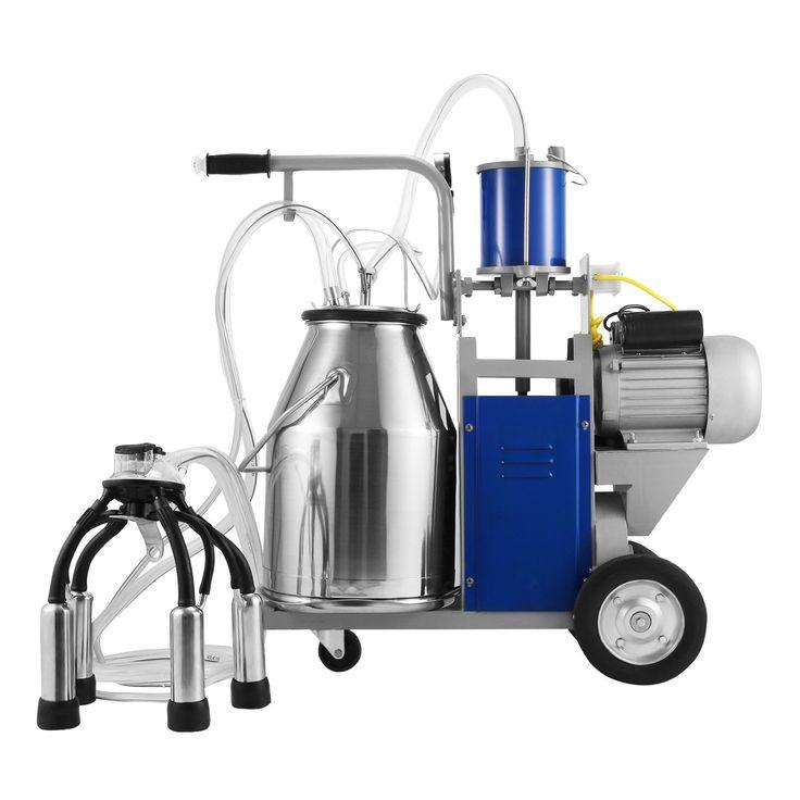 BestEquip Milking Machine 1440 RPM 10-12 Cows per Hour Electric Milking Machine with 25L 304 Stainless Steel Bucket Milk Machine for Cows