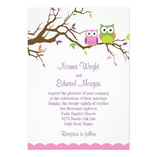 Niedliche Eulen Hochzeits Einladung Karte Zur Hochzeit Vorlage
