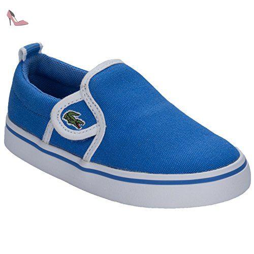 Lacoste Enfantss Bleu Gazon Slip On Basket-UK 4 Enfants - Chaussures lacoste (*Partner-Link)