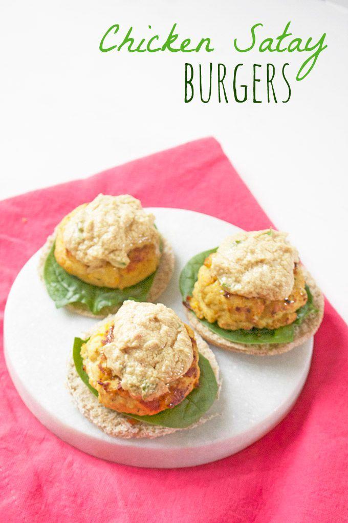 ... Chicken Satay Burgers | Recipe | Chicken Satay, Burgers and Chicken