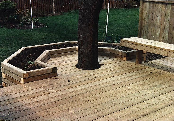 1000 images about deck around tree on pinterest trees for Garden decking near me