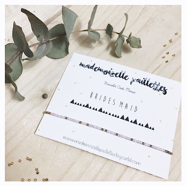 Demoiselles d'honneur. Image of Bracelet code morse •WEDDING COLLECTION•