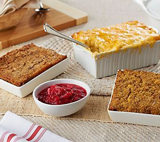 St. Clair 8 lb. Side Dish Sampler w/ 1 lb. Cranberry Relish or Gravy
