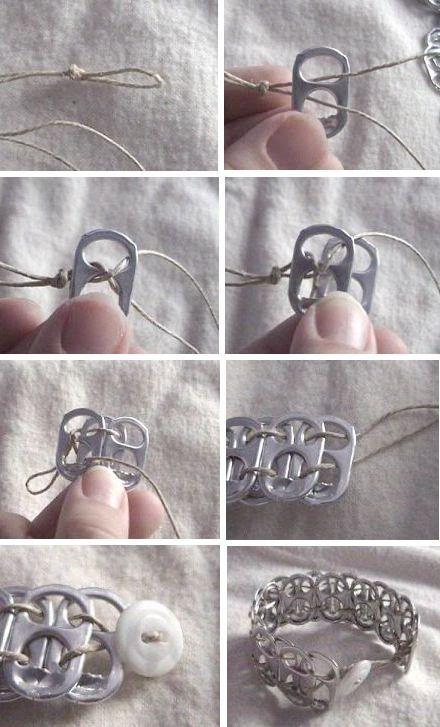 25 Genius Craft Ideas   Pop Tab Bracelet