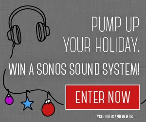 Stay up to date on all the latest technology! Win a Sonos sound system, a 1 year subscription to Newsweek and a 1 year subscription to Audible! Enter at tastingtable.com/tech2015
