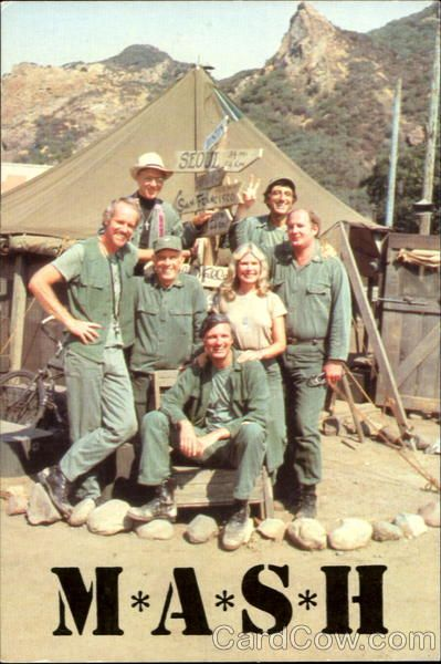 """M*A*S*H"" TV show (1982 photo)...my dad was in Korea during the rebuild time after the Korean War. He loved this tv show and so did we."