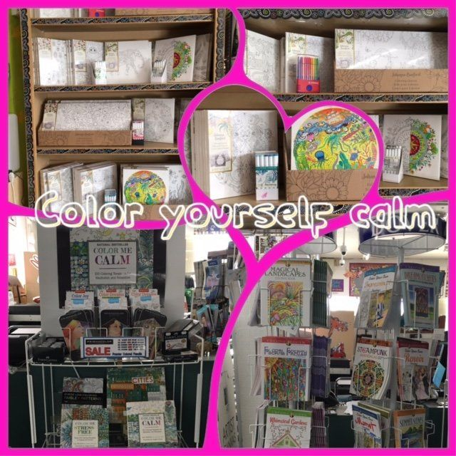 Adult coloring items make a great way to take a minute and relax!