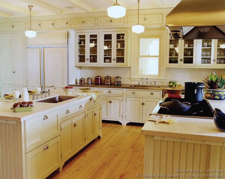 Marvelous #Kitchen Idea Of The Day: Antique White Kitchen Cabinets. (By Crown Point