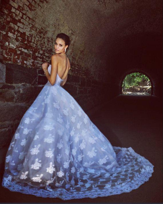 Irina Shabayeva Lace Applique gown. Comes in by IRINASHABAYEVA