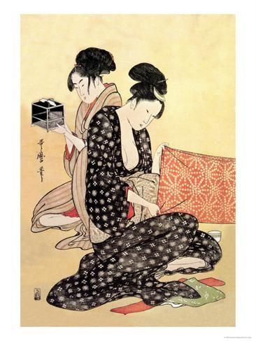 Beauties at Home Julisteet tekijänä Kitagawa Utamaro AllPosters.fi-sivustossa