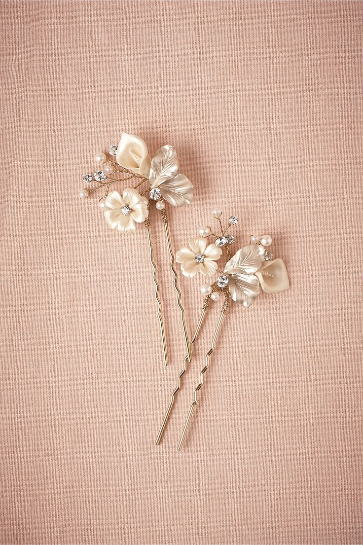 Petite Flora Hairpins (2) from @BHLDN