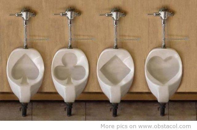 Poker toilets.