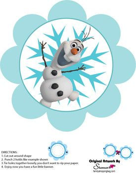 Banner 3, Frozen, Party Decorations - Free Printable Ideas from Family Shoppingbag.com