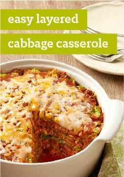 Easy Layered Cabbage Casserole – Casseroles are easy. Stuffing cabbage is hard. In this recipe, you get stuffed cabbage flavor with casserole simplicity. (You're welcome!)