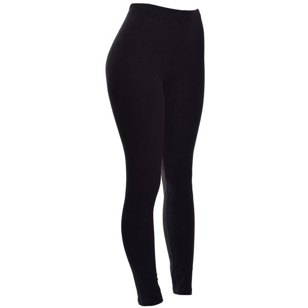 Black Solid Thick & Tight Leggings ($40) ❤ liked on Polyvore featuring pants, leggings, bottoms, thick pants, thick leggings and legging pants