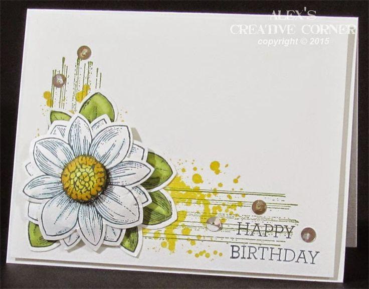 Alex's Creative Corner: Sketched Flower Cards