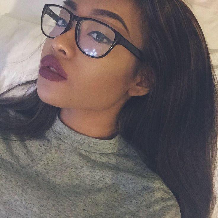 Resultado de imagem para image african american makeup woman wearing glasses