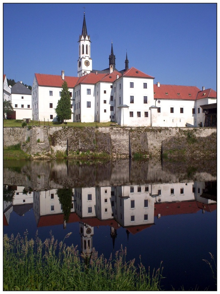 Cloister, Vyšší Brod, Czech Republic /  1259 Vok I. z Rožmberka,