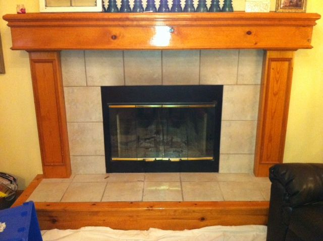 The 157 41 Ugly Oak Fireplace Mantle Makeover Airstone