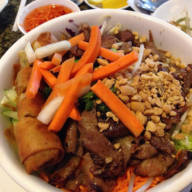 Traditional #Vietnamese vermicelli .  It's what's for lunch. @ncfoodfinds #yum #foodfinds #Fayetteville #fortbragg